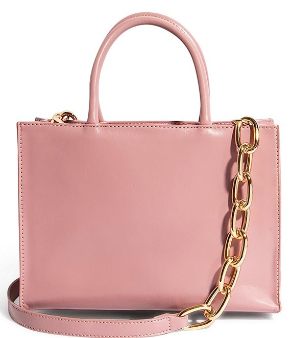 Color:Pink - Image 1 - We Gram Small Top Zip Tote Bag