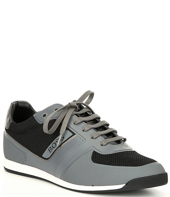 Color:Medium Grey - Image 1 - Men's Glaze Lace-Up Sneakers