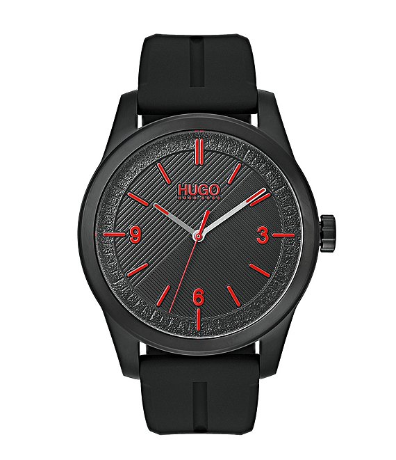 HUGO HUGO BOSS #Create Black Rubber Strap Analog Watch