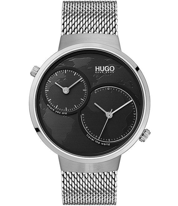 Color:Silver - Image 1 - HUGO HUGO BOSS #Travel Silver Mesh Watch