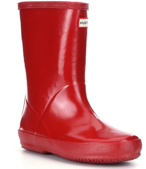 Color:Military Red - Image 1 - First Gloss Kids' Waterproof Rain Boots (Infant)