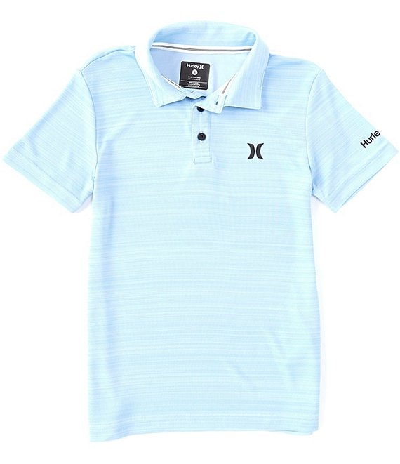 Color:Psychic Blue Heather - Image 1 - Big Boys 8-20 Short-Sleeve Dri-FIT Belmont Polo Shirt