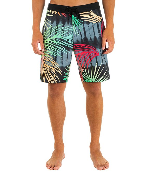 Color:Off Noir - Image 1 - Redondo Mechanical Stretch 20#double; Outseam Board Shorts