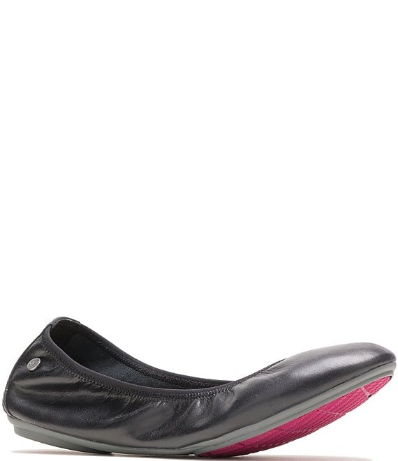 Color:Black Leather - Image 1 - Chaste Leather Ballet Flats
