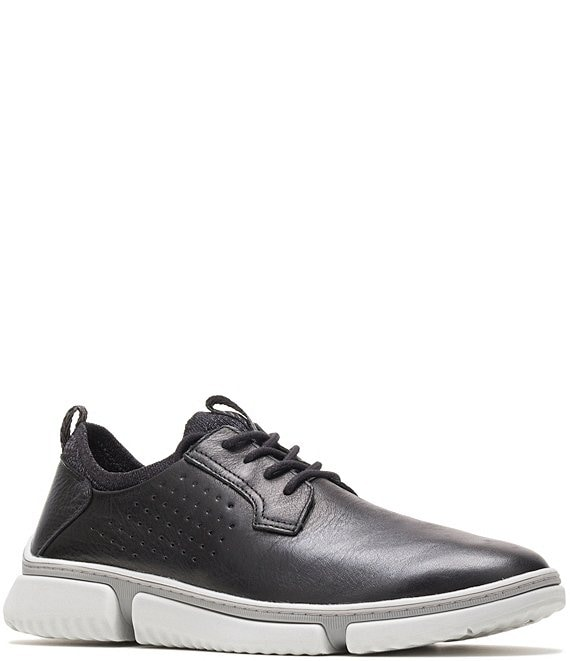 Color:Black - Image 1 - Men's Bennet Plain Toe Leather Oxfords