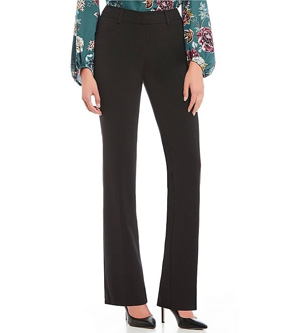 Color:Black - Image 1 - Bootcut Suiting Dress Pants