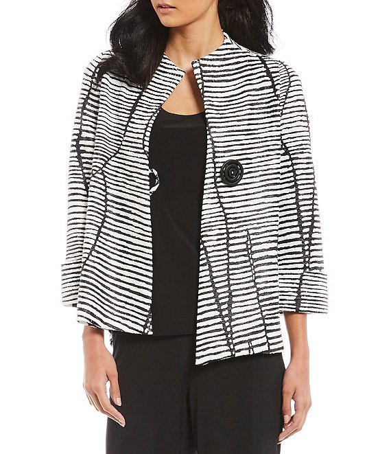 IC Collection Asymmetrical One-Button Front Jacket