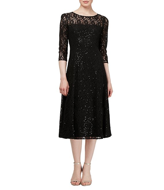 85adfe62775 Ignite Evenings Sequin Lace Midi Dress