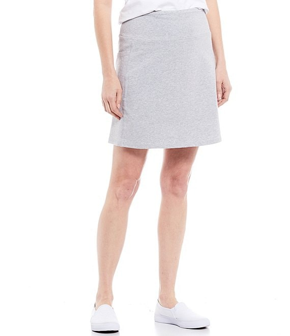 Color:Light Grey - Image 1 - Cellie Love the Fit Cotton Blend Skort