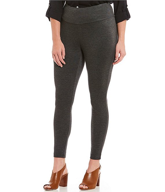 7ccac4a6ba3 Intro Plus Size Solid Double Knit Tummy Control Leggings