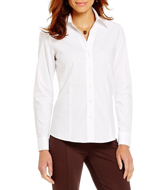 159169c7ffa Investments Christine Gold Label Non-Iron Long Sleeve Button Front Collared  Shirt