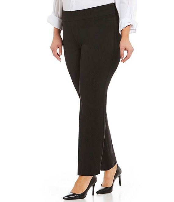Color:Black - Image 1 - Plus Size the PARK AVE fit Classic Ankle Pant
