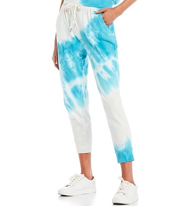 Color:Electric Blue - Image 1 - Coordinating Tie-Dye Joggers