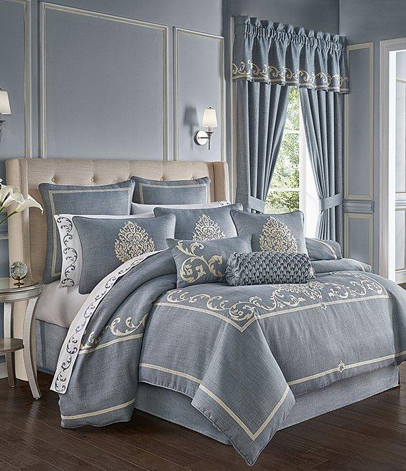 J Queen New York Aurora Embroidery Comforter Set Dillard S