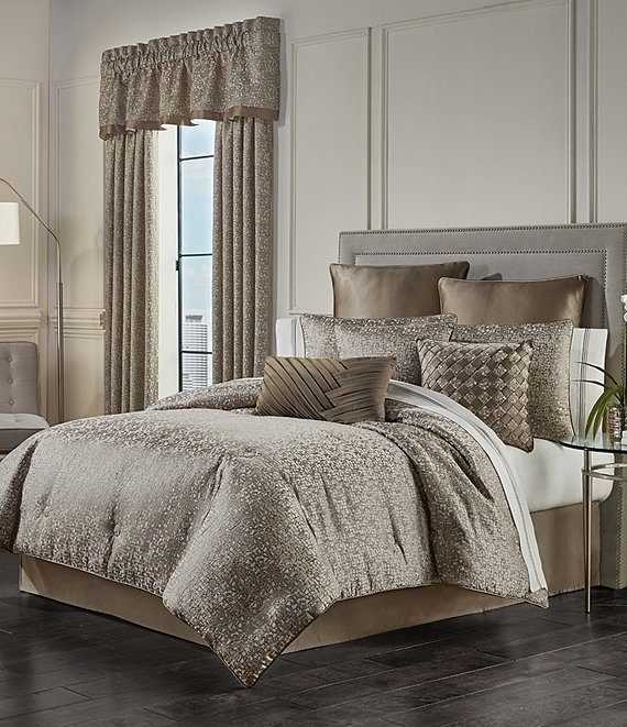 Color:Taupe - Image 1 - Cracked Ice Comforter Set