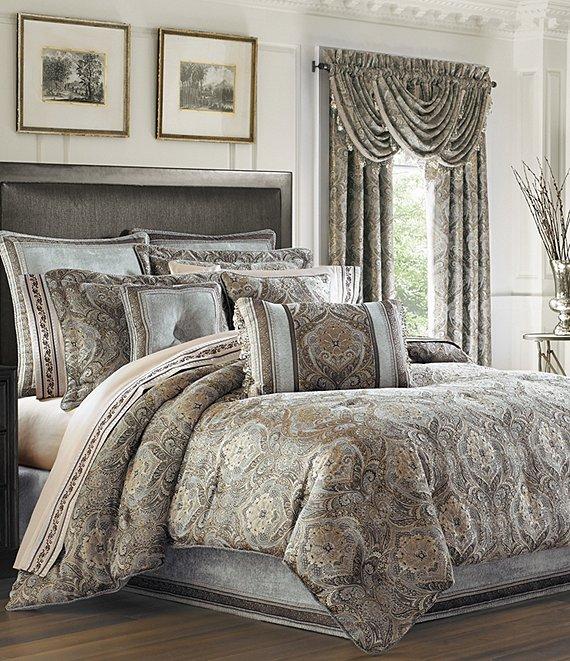 J Queen New York Provence Damask Chenille Comforter Set