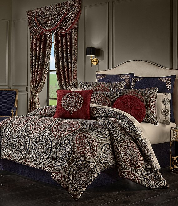 Color:Red - Image 1 - Taormina Comforter Set