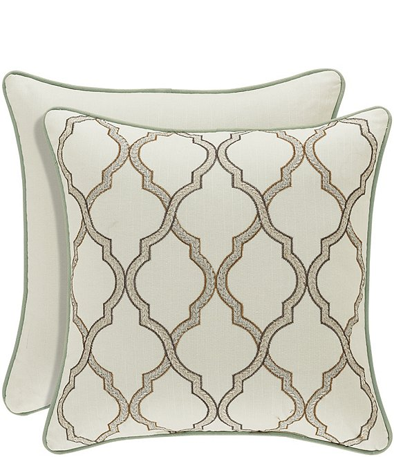 J. Queen New York Vienna Embroidered Square Pillow
