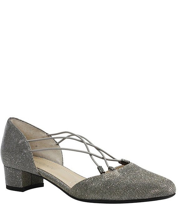 Color:Pewter - Image 1 - Charolette Glitter Dress Pumps
