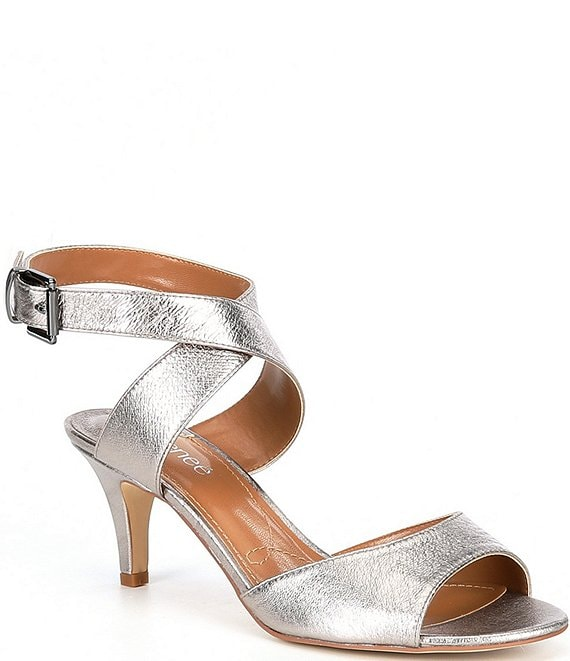 J. Renee Soncino Metallic Dress Sandals