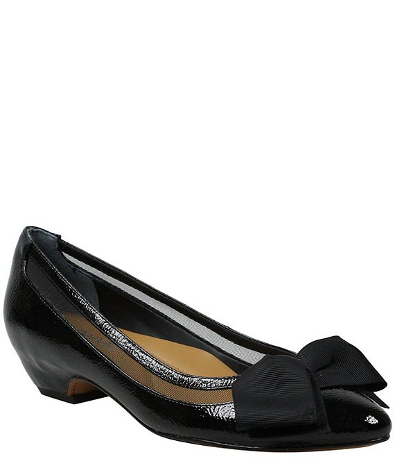 J. Renee Taroona Patent Block Heel Pumps
