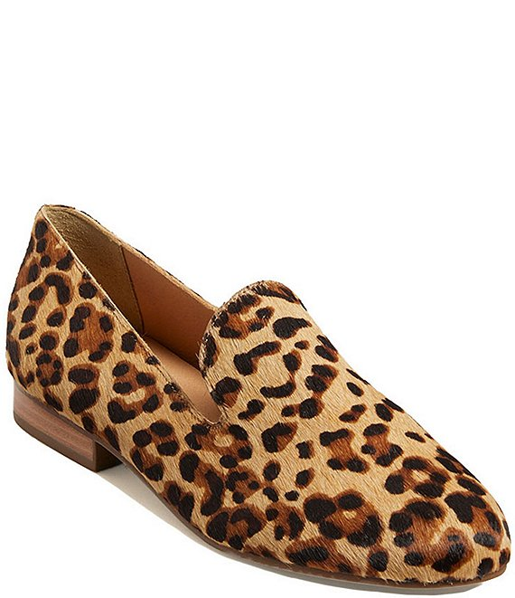 Color:Leopard - Image 1 - Audrey Leopard Print Haircalf Loafers