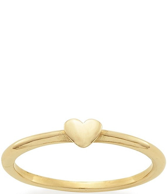 Color:14K Gold - Image 1 - 14K Gold Pure Heart Ring