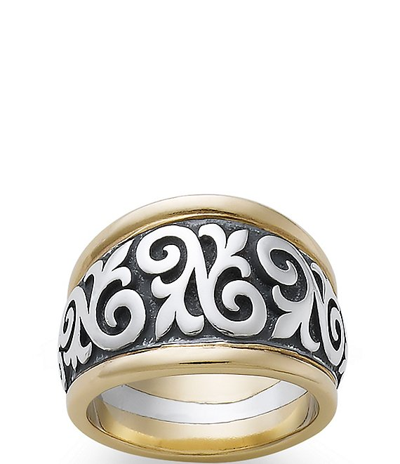 James Avery 14K Gold Scrolled Fleur-De-Lis Ring
