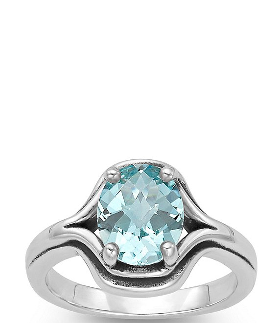 James Avery Adriana Ring with Blue Topaz