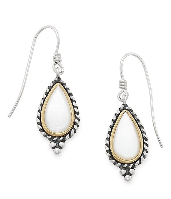 James Avery Alessandra Mother of Pearl Ear Hooks