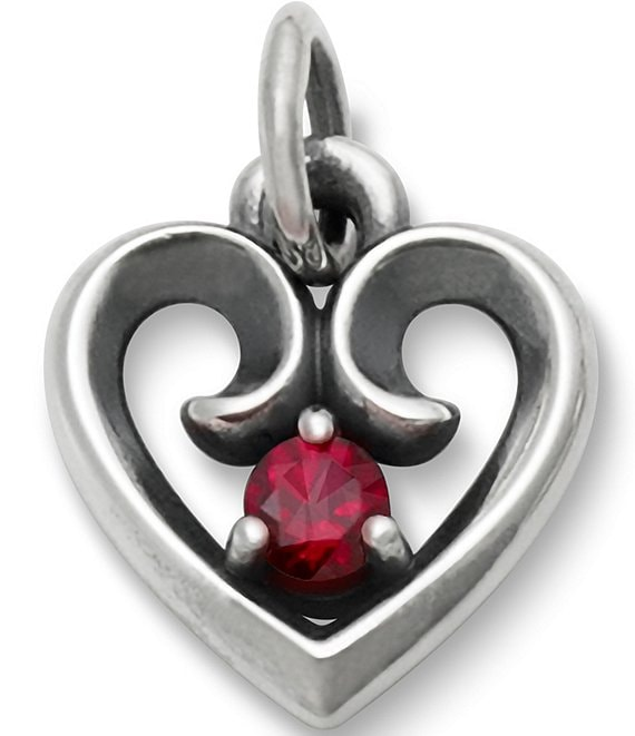James Avery Avery Remembrance Heart Pendant with Lab-Created Ruby