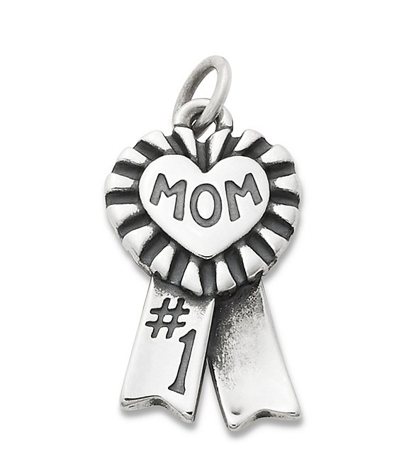 Color:Sterling Silver - Image 1 - Blue Ribbon Mom Charm