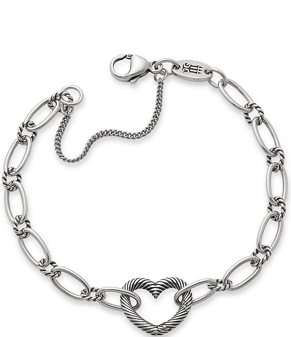 Color:Sterling Silver - Image 1 - Changeable Heart Charm Bracelet