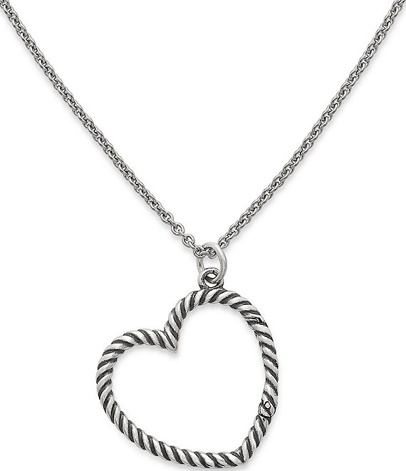 eff34cd75 James Avery Changeable Heart Charm Holder Necklace | Dillard's
