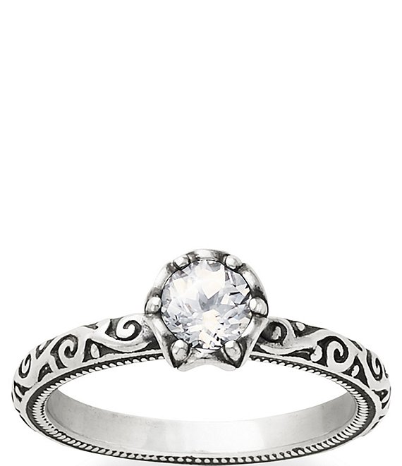 James Avery Cherished Birthstone Ring with Lab-Created White Sapphire