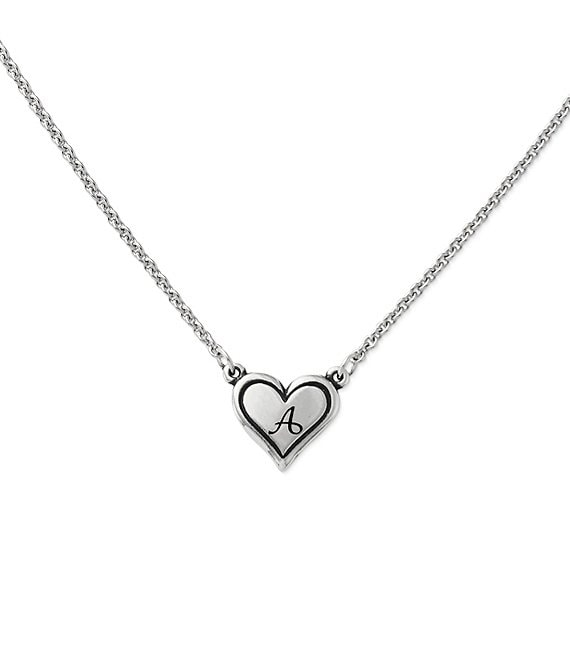 James Avery Delicate Heart Initial Sterling Silver Necklace