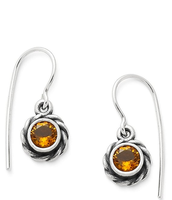 James Avery Elisa Earrings November Birthstone With Citrine