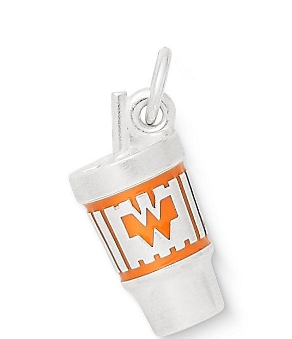 Color:Sterling Orange - Image 1 - Enamel Whataburger™ Cup Charm