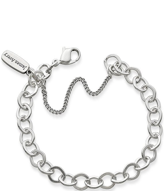f77aeeabeaf5d James Avery Forged Sterling Silver Link Charm Bracelet