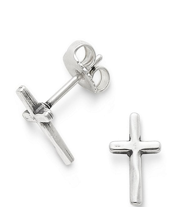 James Avery Horizon Cross Ear Posts