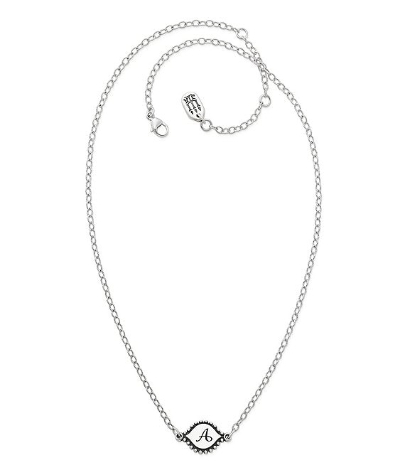 James Avery Memoir Initial Pendant Adjustable Necklace