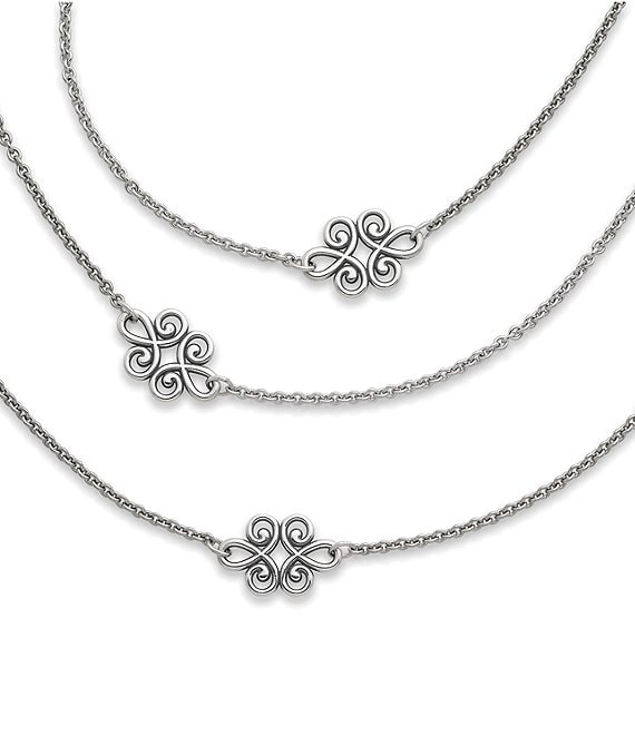 Color:Sterling Silver - Image 1 - Linked Swirls Necklace