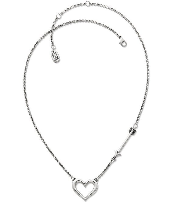 Color:Silver - Image 1 - Love Struck Heart Necklace