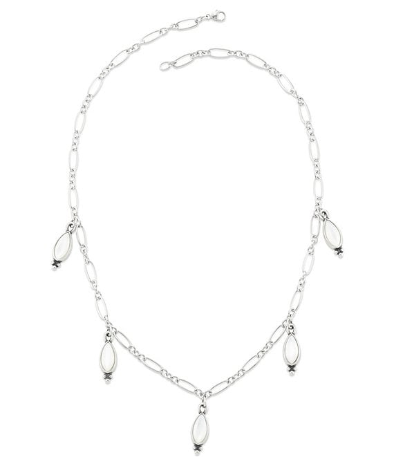 Color:Sterling Pearl - Image 1 - Mother of Pearl Adela Necklace