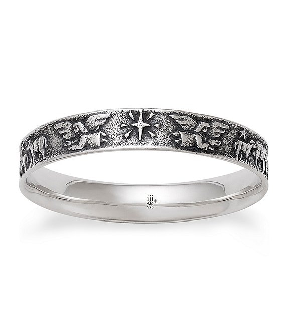 James Avery Sterling Silver Nativity Bangle Bracelet