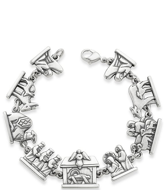 James Avery Nativity Link Bracelet