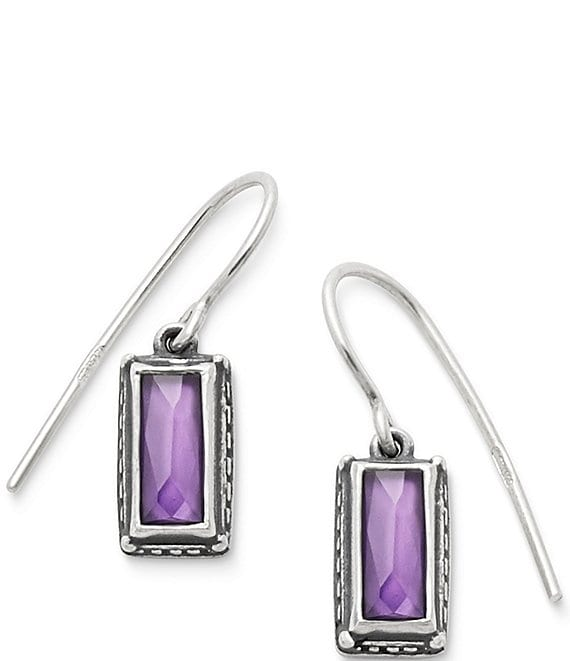 James Avery Palais Violet Doublet Ear Hooks