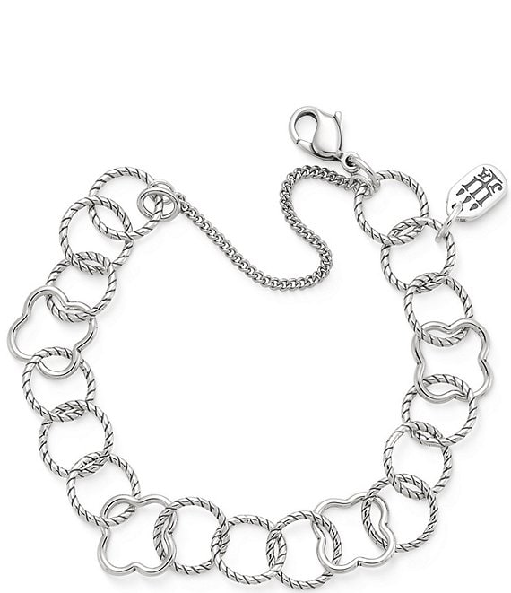 Color:Silver - Image 1 - Quatrefoil Twisted Wire Bracelet