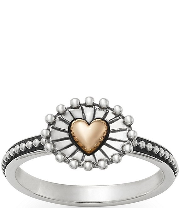 Color:Sterling Bronze - Image 1 - Radiant Heart Ring