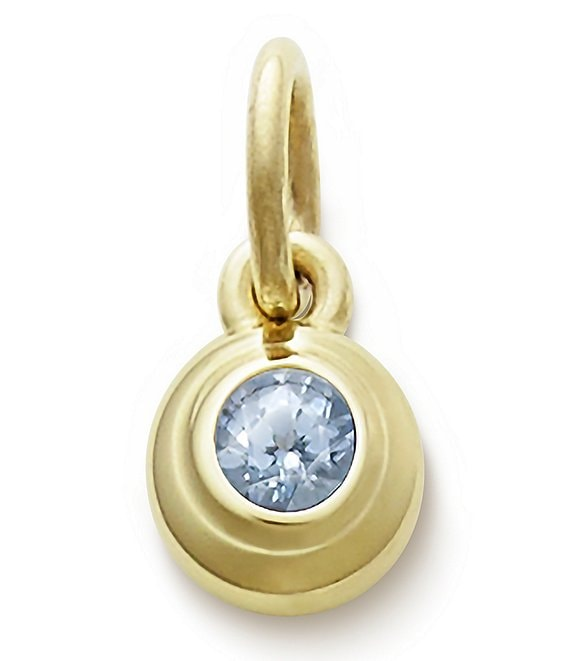 James Avery Remembrance Pendant with Lab-Created Aqua Spinel